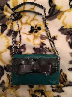 Alannah Hill Patent Leather Green Handbag