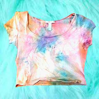 Tire dye crop top small