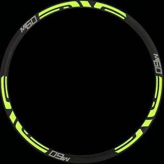 Rim Stickers M60 enve (neon green)