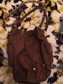 Oroton Tan Leather Blum Bag
