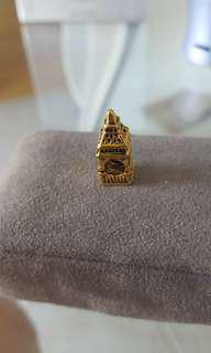 Gold big ben charm