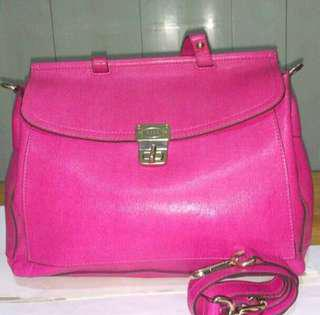 Authentic Elle pink two handle bag