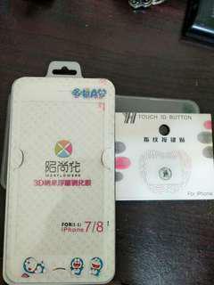 I phone7哆啦a夢鋼化手機膜