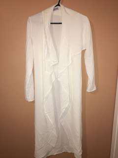 Small fashion nova sheer white cardigan