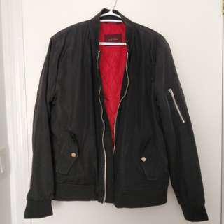 Zara men bomber with red accent S