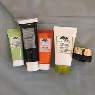 Skincare Products Declutter - Origins, Korres