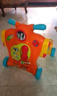 PL Bruin Baby Motion walker convert to ride