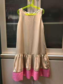 Dress Terusan Khaki Pink Color