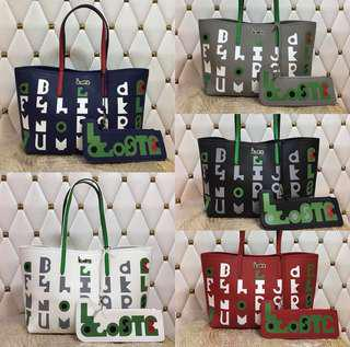 Lacoste Reversible Tote Bag with pouch