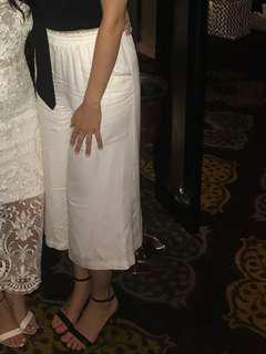 White culottes pants