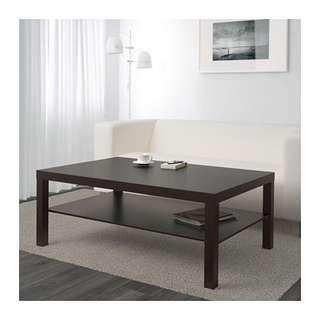 Lack Coffee Table (black-brown)