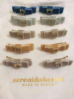 Sereni & Shentel Children Velvet Bow Clips