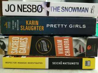 Assorted crime novels