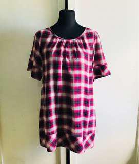 Uniqlo plaid shift dress