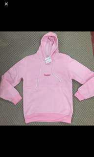 BNWT ulzzang super pink hoodie