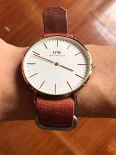 錶帶皮革for Daniel Wellington 手錶 (不跟DW錶)rolex 可作錶帶/手帶一皮帶兩用途