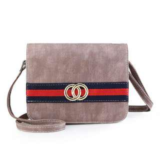 Dual Ring Design Sling Bag