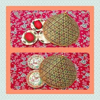 Vintage Rattan Food Cover Tent