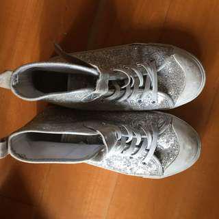 H&M silver shoes size 32