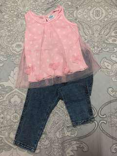 Top and jeggings for 1yo