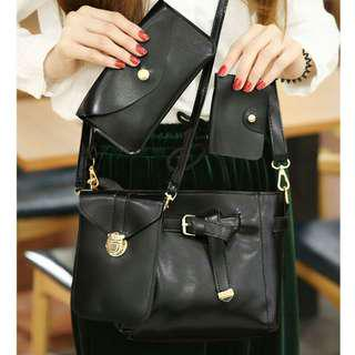 Glossy Leather 4in1 Sling Bag