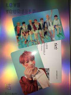 wts - love youself answer special card, jungkook pc, unsealed S version album