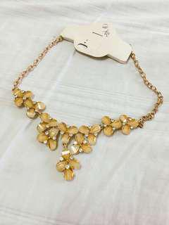 Little Gold Flowers Statement Necklace