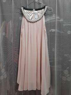 Beaded Peachy Dress