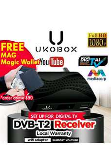 ★Local Warranty★ UKOBOX DVB-T2 Receiver / DVB-T2 Tunner / dvb t2 box / Digital TV Tuner/ Digital TV Active Antenna