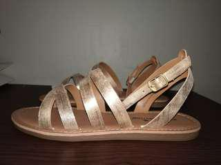 Payless Gold Sandals Size 8