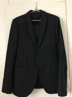 Zara Man 深藍色西裝外套