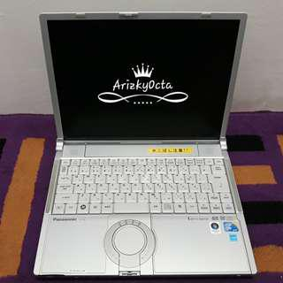Laptop panasonic core2duo ram 2gb hdd 160gb super murah mulus bagus fisik like new
