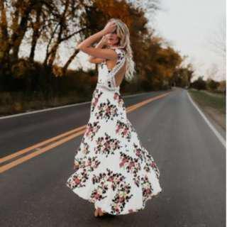 Floral print Long Dress COD