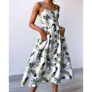 Printed Design Dress COD