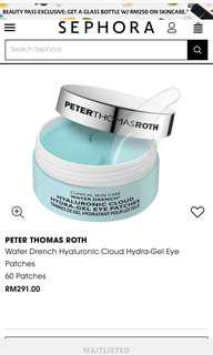 Peter Thomas Roth Water Drench Hyaluronic Cloud Hydra Gel Eye Patches