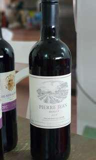Red Wine French Pieree Jean Merlot 2016. New Arrival.