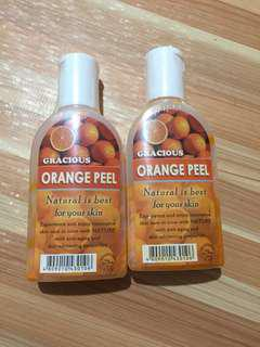 Orange peel liquid soap