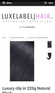 Luxe Label Hair | 26-inch Black Human Hair Extensions