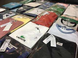 Lacoste for mens and womens . Check my page