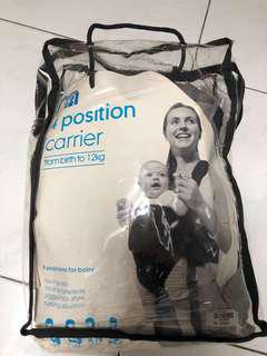 Mothercare carrier 4 positions