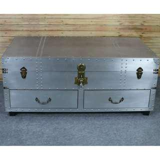 Industrial loft TV console/ Coffee Table