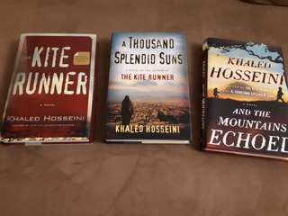 """Khaled Hossein's famous books( the kite runner, a thousand splendid suns, and the mountains echoed"""""""