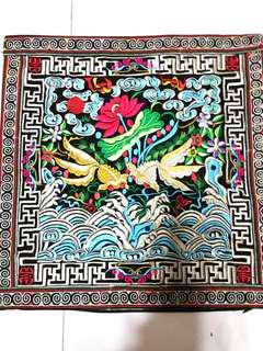 🚚 Embroidery Cushion Covers 刺绣坐垫套 (年年有余)