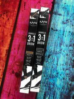 NYX 3 in 1 Brow Sourcils