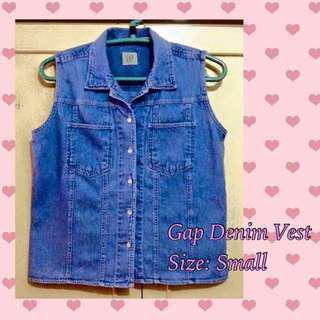 Gap denim vest (small)