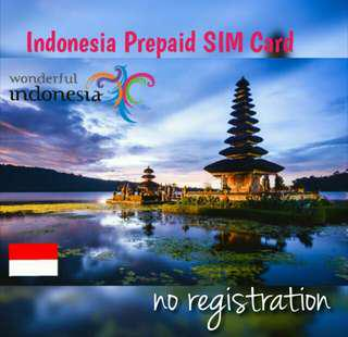 Indonesia simcard (no registration)