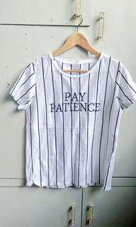 Statement stripes tshirt