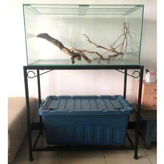 Simple Aquarium with Black Metal Support