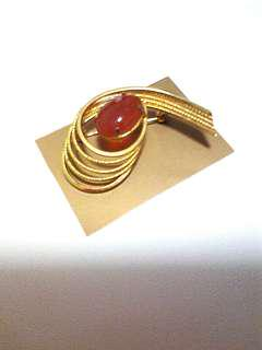 Gold Plated Fashion Stone Brooch