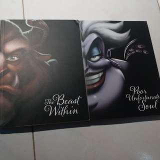 Novel import disney beauty and the beast (The beast within), little mermaid (Poor unfortunate soul)